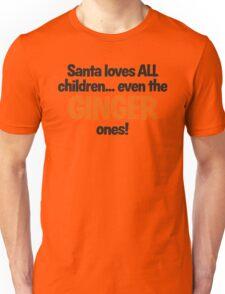 Santa Loves Ginger Children fun Christmas design Unisex T-Shirt