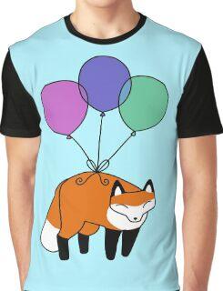 Balloon Fox Graphic T-Shirt