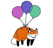 Balloon Fox Photographic Print