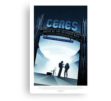 Vintage Ceres Queen of the Asteroid Belt Space Travel Canvas Print