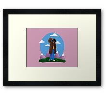 Playa from the himalayas Framed Print