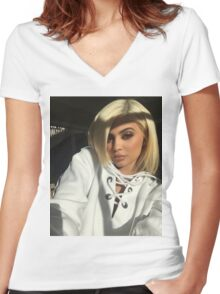 Kylie Jenner Sun Women's Fitted V-Neck T-Shirt