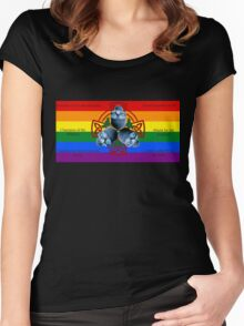 LeatherWing Coat of Arms LGBTQ Pride Women's Fitted Scoop T-Shirt