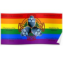 LeatherWing Coat of Arms LGBTQ Pride Poster