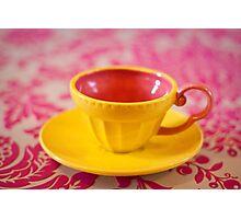 Yellow teacup Photographic Print