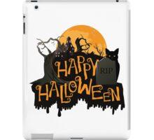 Happy Halloween cemetery banner.  iPad Case/Skin