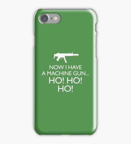 Die Hard 'Now I Have A Machine Gun' fun Xmas message iPhone Case/Skin