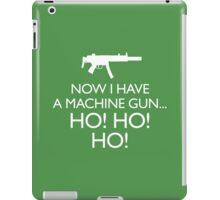 Die Hard 'Now I Have A Machine Gun' fun Xmas message iPad Case/Skin