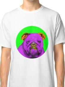 Green Bubble Bull Dog Pop Art Classic T-Shirt
