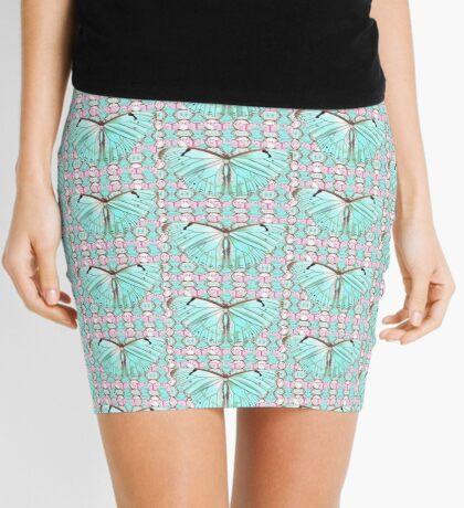 Tiny butterfly and pink allover Mini Skirt