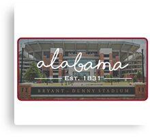 University of Alabama Football Canvas Print