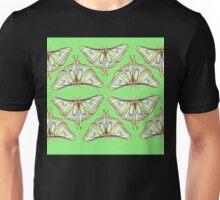 Green Moth Pattern Unisex T-Shirt