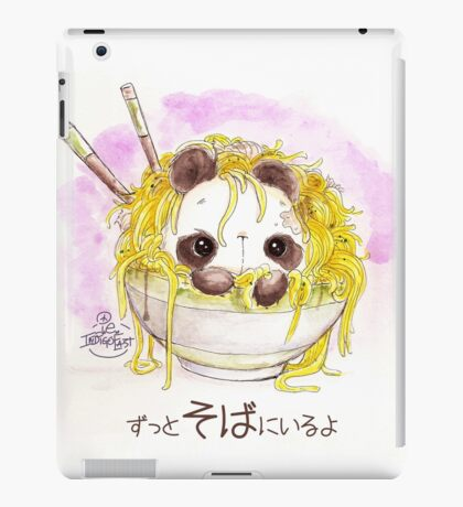 """""""ZUTTO SOBA NI IRU YO"""" Always by your side? Or Always in your Buckwheat Noodles...? iPad Case/Skin"""