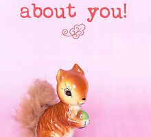 I'm nuts about you! Valentine card by Zoe Power