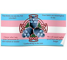 LeatherWing Coat of Arms Trans Pride Poster