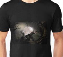 Creepy Haunted cemetery Unisex T-Shirt