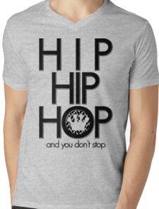 Hip Hip Hop and You Don't Stop [Logo O] | FTS Mens V-Neck T-Shirt
