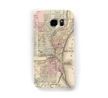 Vintage Map of Milwaukee (1880) Samsung Galaxy Case/Skin