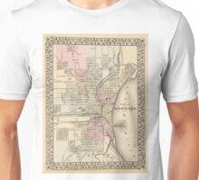 Vintage Map of Milwaukee (1880) Unisex T-Shirt