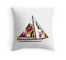 Maryland Skipjack Throw Pillow
