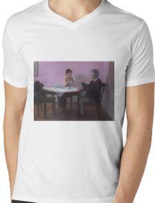 Serving Tea Mens V-Neck T-Shirt