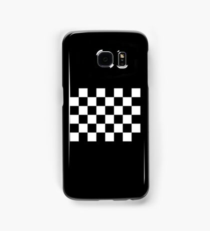 Checkered Flag, WIN, WINNER, Chequered Flag, Racing Cars, Race, Finish line, BLACK Samsung Galaxy Case/Skin