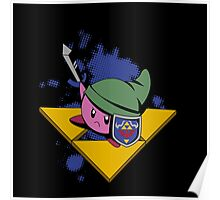 Pink cutie with shield and sword Poster