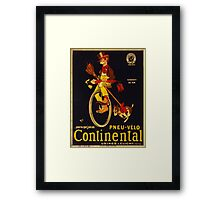 Vintage poster - Continental Bicycles Framed Print
