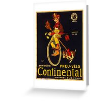Vintage poster - Continental Bicycles Greeting Card