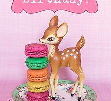 Happy Birthday ~ Bambi & Macarons version by Zoe Power