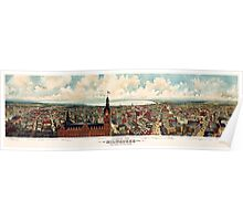 Vintage Pictorial Map of Milwaukee WI (1898) Poster