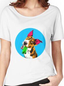 Blue Bubble Australian Kelpie Pop Art Women's Relaxed Fit T-Shirt