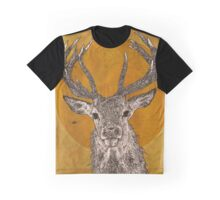 Wild Stag's Head Graphic T-Shirt