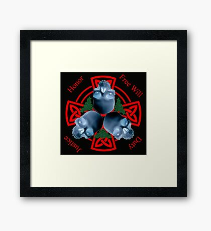 LeatherWing Coat of Arms Framed Print