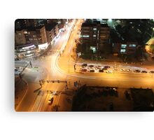 Aerial Intersection Canvas Print