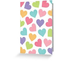 Love Hearts Card Greeting Card