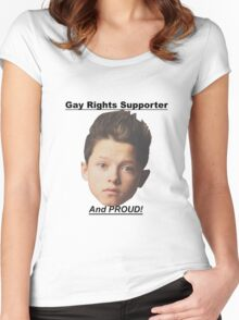 Jacob Sartorius Gay Rights Supporter Women's Fitted Scoop T-Shirt
