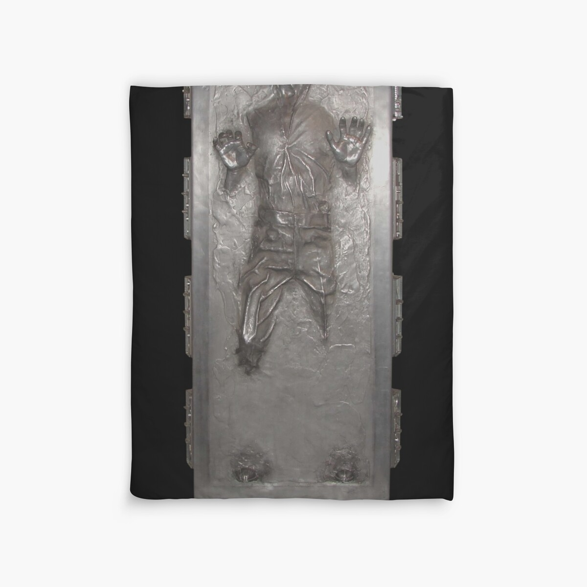 Han solo in carbonite duvet cover duvet covers by jaketheviking0 redbubble - Han solo carbonite wall art ...