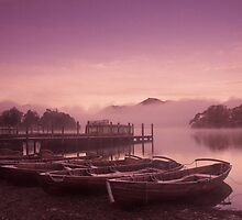 Misty boats at dawn by Zoe Power