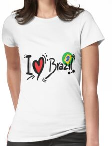 I Love Brazil Womens Fitted T-Shirt