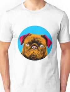 Blue Bubble Pug Pop Art Unisex T-Shirt