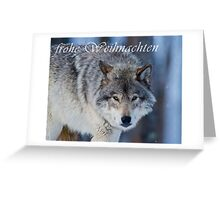 Timber Wolf Christmas Card - German - 18 Greeting Card
