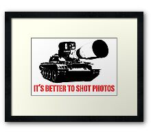 canon cannon better to shot photos Framed Print