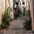 Old Town Steps by Marylou Badeaux