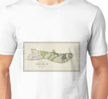 Vintage Map of Molokai Hawaii (1906) Unisex T-Shirt