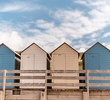 Beach huts ~ Summerleaze Beach, Cornwall, UK by Zoe Power