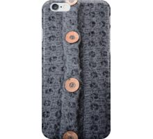 Knitted pattern and buttons iPhone Case/Skin