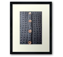 Knitted pattern and buttons Framed Print