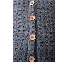 Knitted pattern and buttons Photographic Print