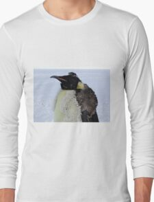 Molting Emperor Penguin Long Sleeve T-Shirt